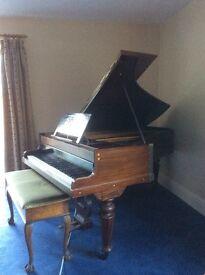 John Broadwood and Sons Short grand piano and stool - REDUCED