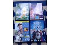 Disney DVDs tinker bell frozen toy story
