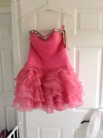Pink crystal occasion dress
