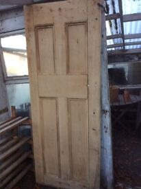 Stripped pine door, just needs finishing.