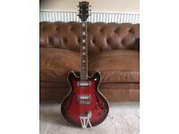 Columbus semi acoustic guitar, 335 type, 1960's/1970's vintage!