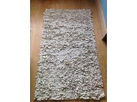 Cosy Cream Rag Rug -Size = 126 cm x 69 cm