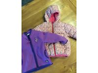 Girls coat and fleece