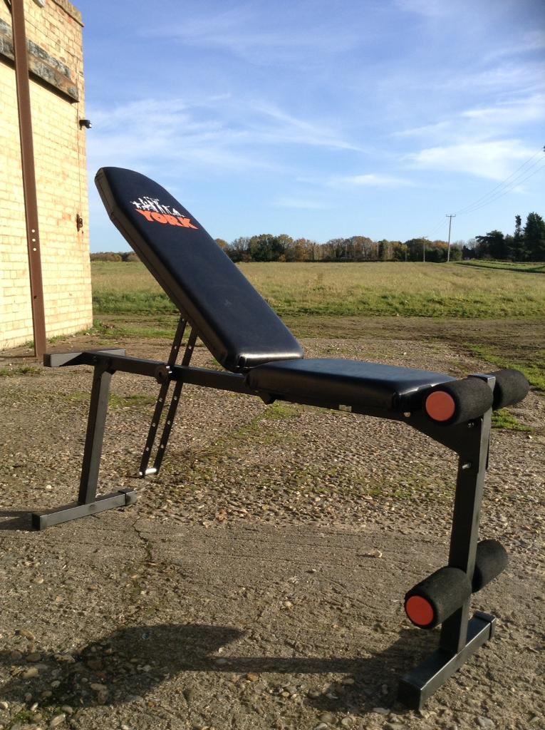 York 4023 Adjustable Utility Bench Delivery Available In Norwich