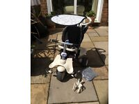 Smart Trike excellent condition includes sun canopy Rain cover removable foot rest