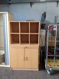 Pigeon hole office Cupboard with Pull Out Desk