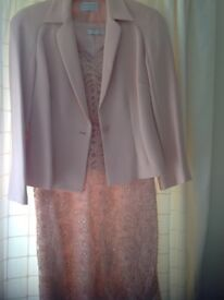 Ladies peach pink colour wedding outfit