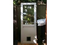 Double glazed door and frame used