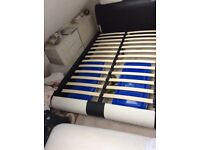 Black and White Small Double Bed