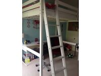 Loft bed frame and mattress. Excellent condition