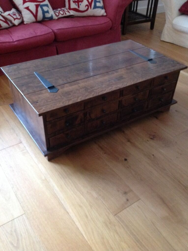 Laura Ashley Coffee Table For Sale: Laura Ashley Garrat 12 Drawer Coffee Table In Chestnut