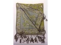 Pashmina scarf shawl green