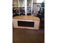 Alpherson wooden television stand
