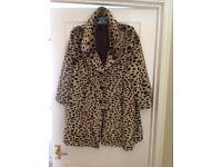 Miss Selfridge Faux Fur 3/4 Jacket