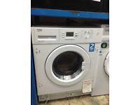 Beko intergrated 6.5 kg 1200 spin washing machine A+ 12 month Gtee