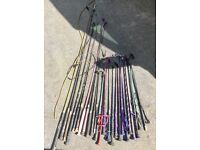 Selection of 25 Crops, whips and lunge whips horse