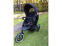 Phil & Teds Black and Grey Double buggy