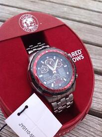 Citizen Eco drive Red Arrows Skyhawks AT radio controlled Titanium watch
