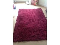 Habitat plum coloured rug