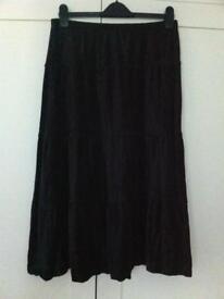 Black velvet skirt size 12