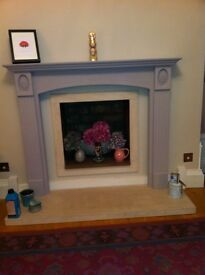 Carved Wooden Fire Surround, free local delivery.