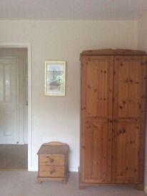 Double Pine Wardrobe, Triple Pine Wardrobe and 2 drawer bedside cabinet