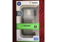 Belkin Grip Case for Galaxy S5 Phone Protection ( Clear/Gravel)