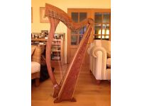 HARP for sale - a MEGHAN 36 String Harp with padded case and spare strings