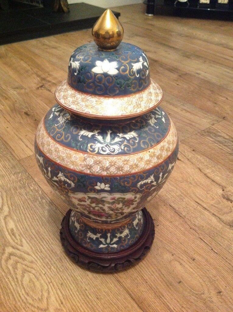 Hand painted Japanese vase.