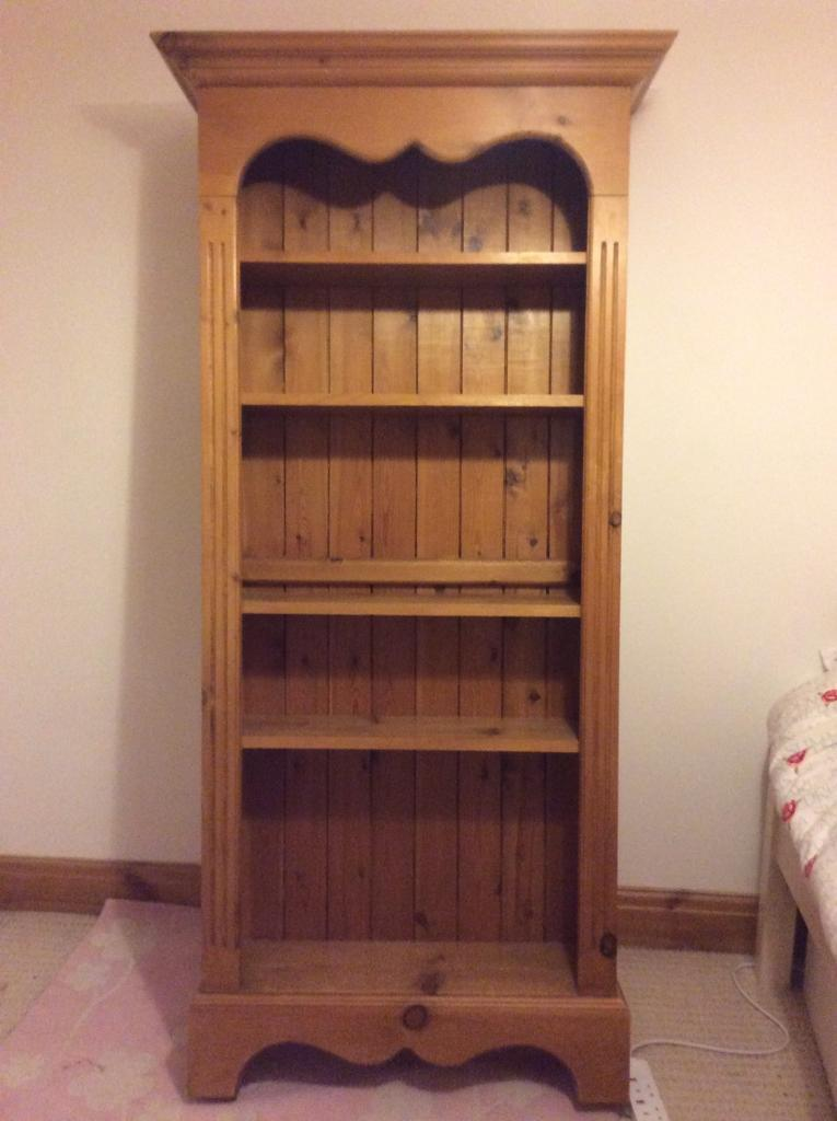 Tall pine book case