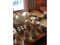 POOL POTTERY DINNNER / TEA SERVICE