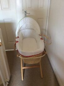 Mamas & Papas Moses Basket (reduced for quick sale)