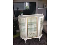 Beautiful vintage shabby chic display cabinet