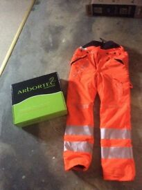Railway spec chainsaw trousers