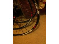 SRAM S27 bike wheels, pair