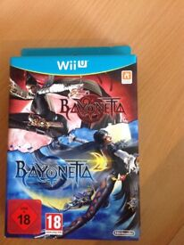 Limited edition bayonetta one and two Nintendo Wii U