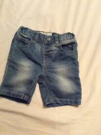 Next boys denim shorts age 18-24 months/1.5-2 years