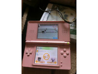 PINK NINTENDO DS WITH NINTENDOGS GAME