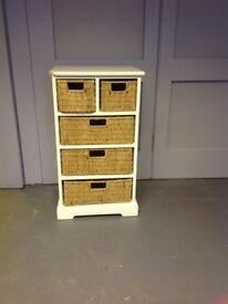 Cotswold Company Wicker drawers in cream painted unit