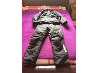 Motorcycle jacket & trousers, ladies size 16