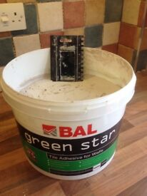 BAL Green Star tile adhesive. White 15kg tub.