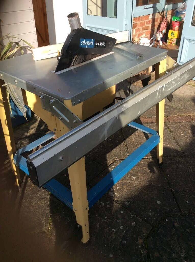 Used Scheppach Tku 4000 Table Saw Can Be Used For Hardwoods As Well As Softwoods Good Runner