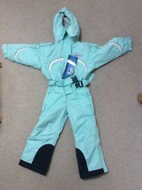 Girls Trespass Ski Suit, size 3-4 years
