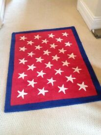 Baby face red and white star rug £80 when new