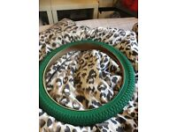Green bmx tire
