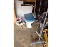 Toilet, sink and pedestal