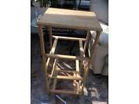 Plant stand white wood pine