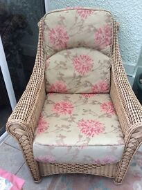 Wicker sofa and 2 matching chair