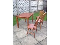 Table and 3 chairs - perfect to use as extras for Christmas!