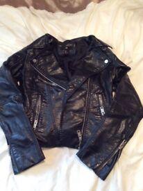 Faux leathe jacket